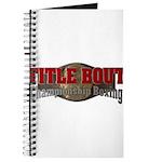 Title Bout Championship Boxing Logo Journal