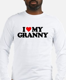 I LOVE MY GRANNY Long Sleeve T-Shirt