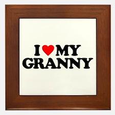 I LOVE MY GRANNY Framed Tile