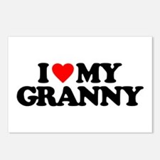 I LOVE MY GRANNY Postcards (Package of 8)