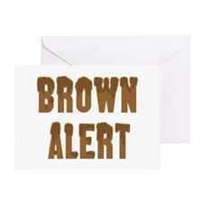 Brown Alert Greeting Card