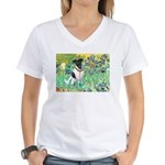 Irises / T (#1) Women's V-Neck T-Shirt