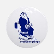 Everyone Poops Ornament (Round)