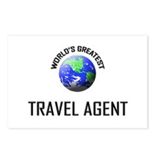 World's Greatest TRAVEL AGENT Postcards (Package o