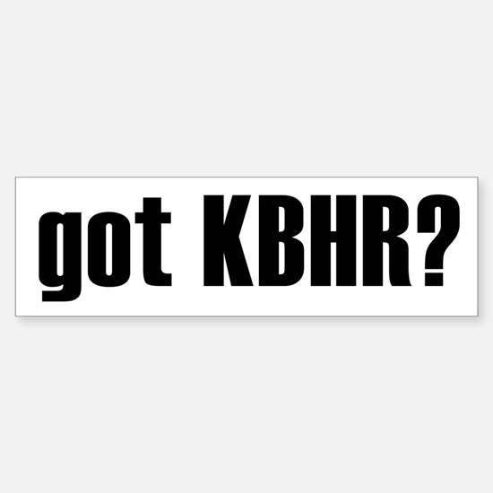 got KBHR? Bumper Car Car Sticker