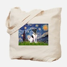 Starry / Fox Terrier (#1) Tote Bag