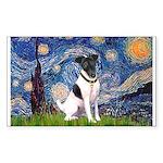 Starry / Fox Terrier (#1) Sticker (Rectangle)