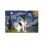 Starry / Fox Terrier (#1) Rectangle Magnet