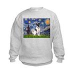 Starry / Fox Terrier (#1) Kids Sweatshirt