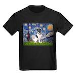 Starry / Fox Terrier (#1) Kids Dark T-Shirt