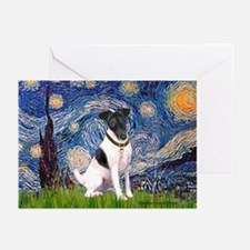 Starry / Fox Terrier (#1) Greeting Cards (Pk of 20