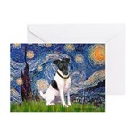 Starry / Fox Terrier (#1) Greeting Cards (Pk of 10