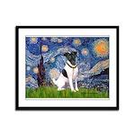 Starry / Fox Terrier (#1) Framed Panel Print