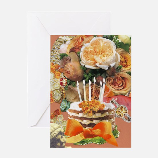 Coral Birthday Greeting Cards