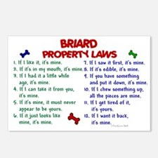 Briard Property Laws 2 Postcards (Package of 8)