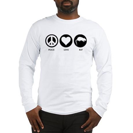 Peace Love Rat Long Sleeve T-Shirt