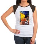 Cafe / Smooth T (#1) Women's Cap Sleeve T-Shirt