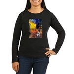 Cafe / Smooth T (#1) Women's Long Sleeve Dark T-Sh