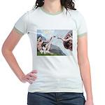 Creation / Smooth T (#1) Jr. Ringer T-Shirt