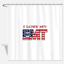 I Love My EMT Shower Curtain