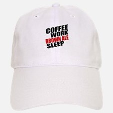 Coffe Work Brown Ale Sleep Baseball Baseball Cap