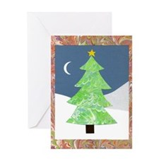 Marbelized Tree Collage Greeting Card