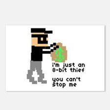 i'm just an 8-bit thief - Postcards (Package of 8)