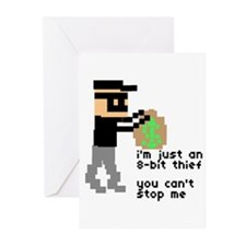 i'm just an 8-bit thief - Greeting Cards (Package