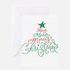 Merry, Merry, Merry Christmas Greeting Card