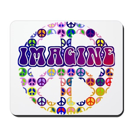 Vintage Peace Sign RETRO Mousepad