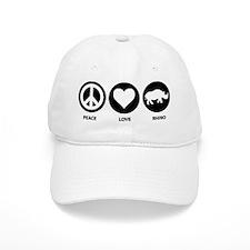 Peace Love Rhino Baseball Cap