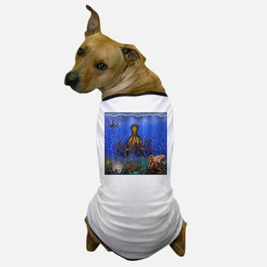 Octopus' Lair - colorful Dog T-Shirt