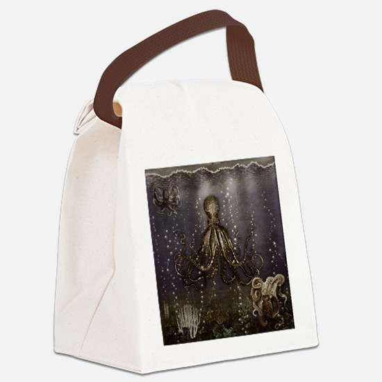 Octopus' lair - Old Photo Canvas Lunch Bag
