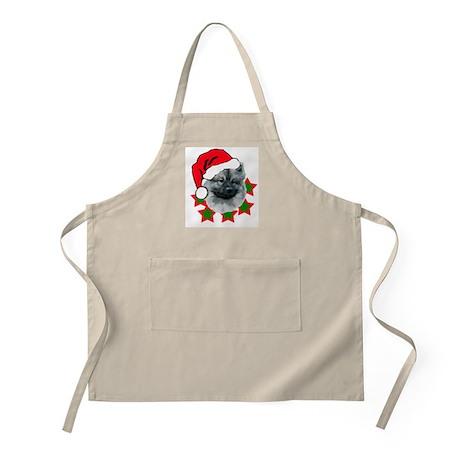 keeshond christmas BBQ Apron