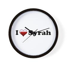 I Love Syrah Wall Clock