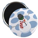 Bliz the Snowman Dotted Magnet