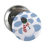 "Bliz the Snowman Dotted 2.25"" Button"