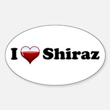 I Love Shiraz Oval Decal
