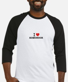 I Love KOMONDOR Baseball Jersey
