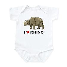 I Love Rhino Onesie