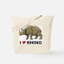 I Love Rhino Tote Bag