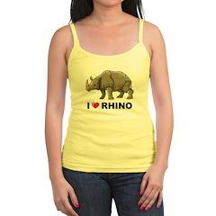 I Love Rhino Jr.Spaghetti Strap
