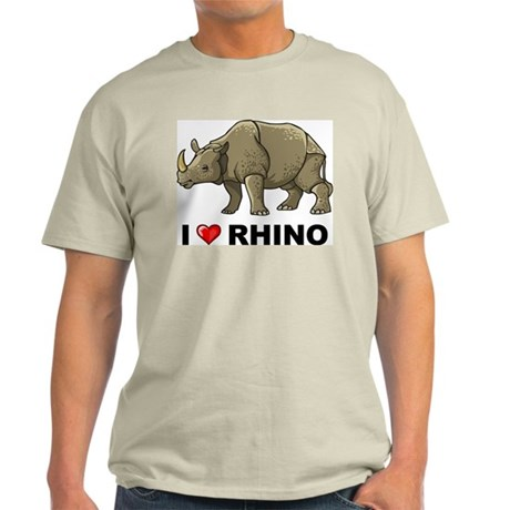 I Love Rhino Light T-Shirt