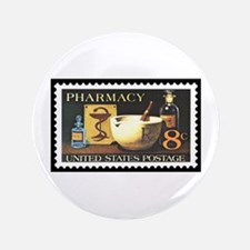 """Pharmacist Stamp Collecting 3.5"""" Button"""