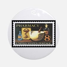 Pharmacist Stamp Collecting Ornament (Round)