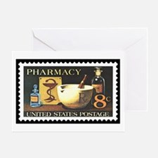 Pharmacist Stamp Collecting Greeting Card