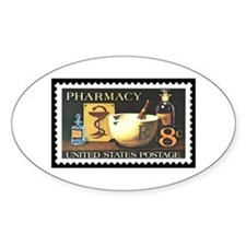 Pharmacist Stamp Collecting Oval Decal