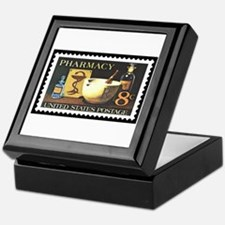 Pharmacist Stamp Collecting Keepsake Box