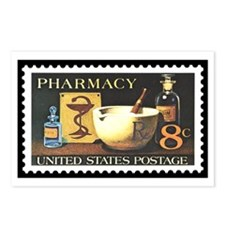 Pharmacist Stamp Collecting Postcards (Package of