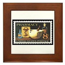 Pharmacist Stamp Collecting Framed Tile